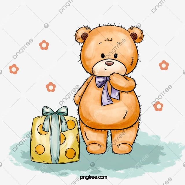 Hand Drawn Cute Birthday Teddy Bear Elements Bear Clipart Teddy Bear Birthday Png Transparent Clipart Image And Psd File For Free Download Teddy Bear Teddy Happy Birthday Teddy Bear