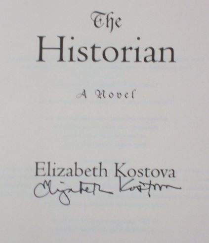 Elizabeth Kostova's Signature (author of The Historian)