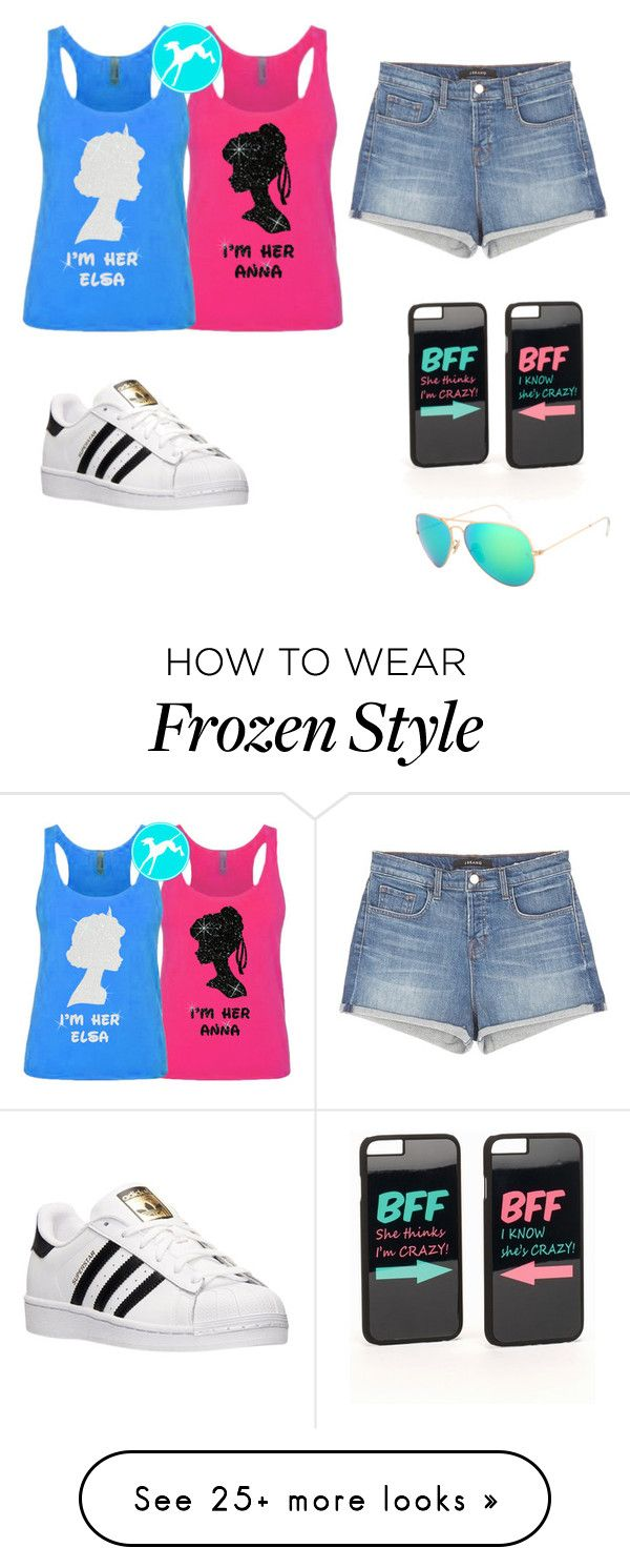 """Disney with BFF"" by asiac017 on Polyvore featuring J Brand, adidas, JFR and Ray-Ban"
