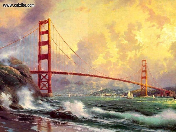 The 25 best Golden gate bridge painting ideas on Pinterest