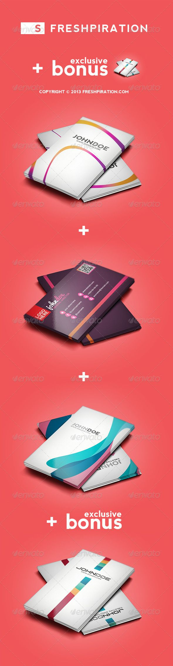 1470 best minimal business card design images on pinterest minimal 4 colorful business cards pack 1 exclusive bonus reheart Image collections