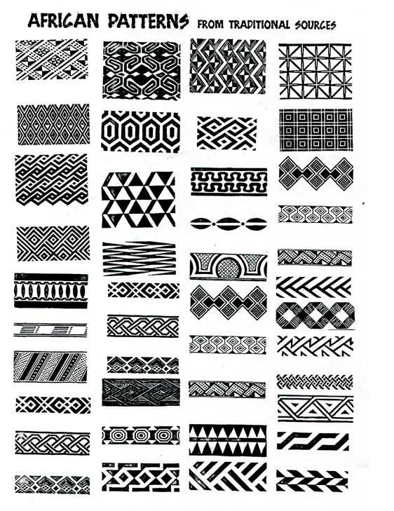 african patterns – ideas for zentangle                                                                                                                                                                                 More