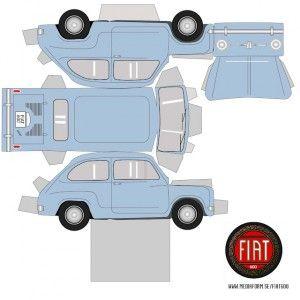 Recortables de coches antiguos| fiat 600