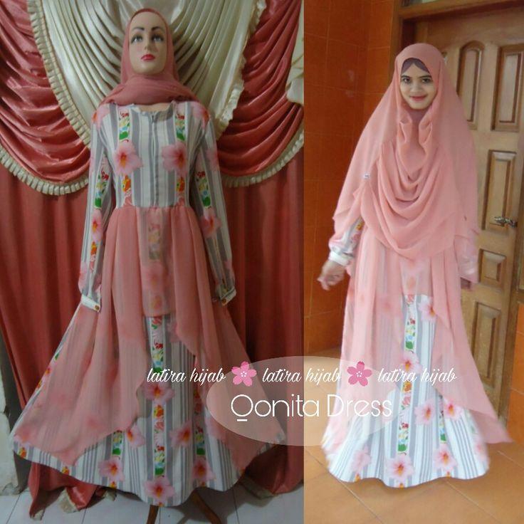 Dress with hijab. Khimar. Abaya with hijab. Gamis muslimah. Abaya muslim. Abaya muslimah