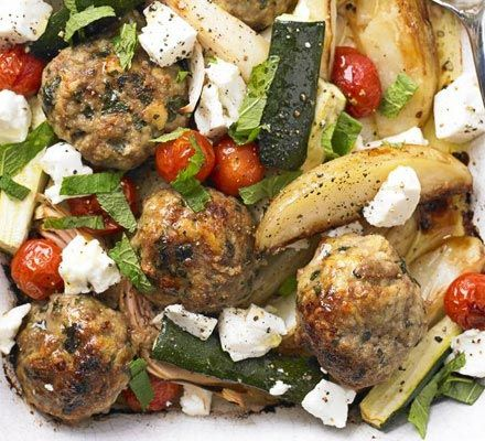 one to try    http://www.bbcgoodfood.com/recipes/1120675/greek-lamb-tray-bake