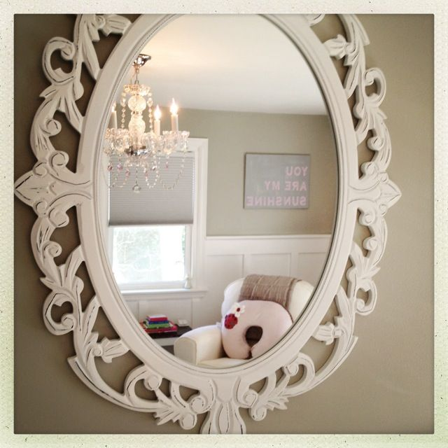 Shabby Chic Nursery Mirror Madison Pink Gray Pinterest And