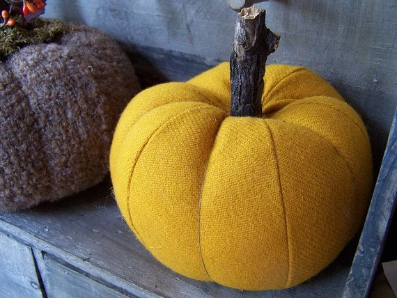 recycled sweater pumpkins