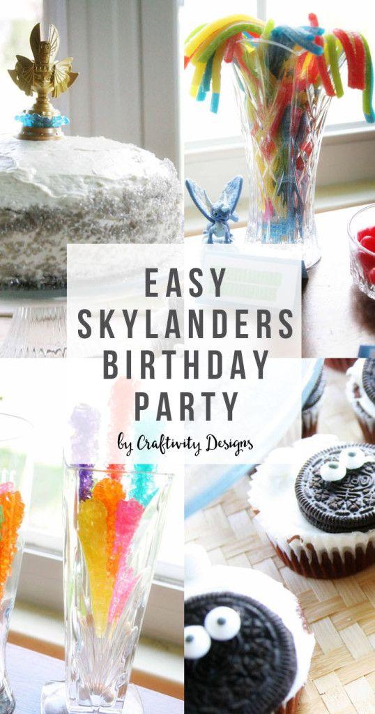 Easy Skylanders Birthday Party, Skylander Food, Portal Cake, Candy Bar, Games by @CraftivityD