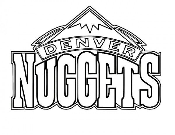 Basketball, : Logo of Denver Nuggets Free Coloring Page