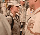 """Sgt. Leigh Ann Hester's squad was shadowing a supply convoy when anti-Iraqi fighters ambushed the convoy. They moved to the side of the road, flanking the insurgents & cutting off their escape route. She led her team through the """"kill zone"""" & into a flanking position, where she assaulted a trench line with grenades & M203 grenade-launcher rounds. She & Staff Sgt.Tim Nein, her squad leader, cleared 2 trenches, at which time she killed three insurgents with her rifle. She received a Silver…"""