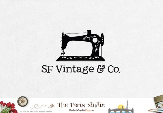 Sewing Machine Logo Design Pay As You Go Custom Logo Design Dressmaker Logo…
