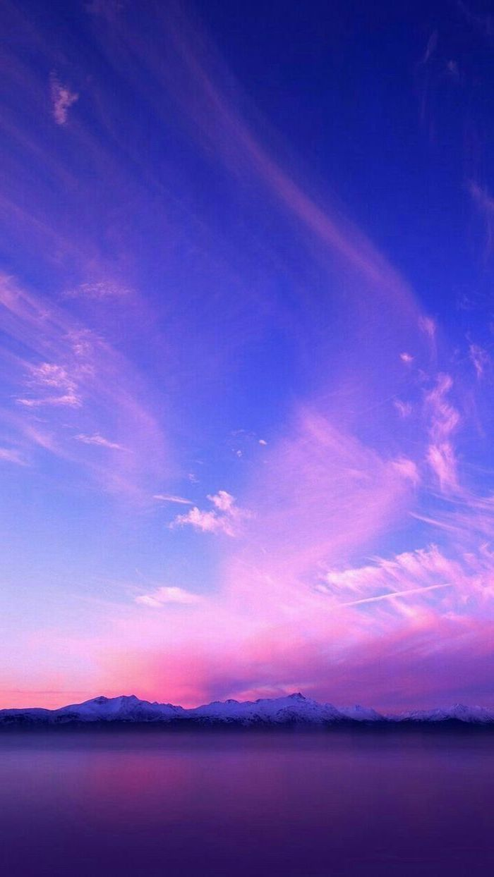 Sky Blue Afterglow Cloud Horizon Purple Aesthetic Wallpapers Aesthetic Backgrounds Nature Wallpaper
