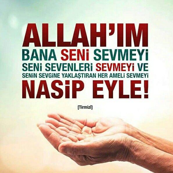 Allah'ım! Bana seni sevmeyi, seni sevenleri sevmeyi ve senin sevgine yaklaştıran her ameli sevmeyi nasip eyle! (Amin) [Tirmizî]  #sevgi #seven #sen #amel #nasip #dua #amin #hadis #ramazan #islam #müslüman #ilmisuffa