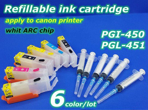 Купить товарPgi 450 CLI 451 6 color многоразового картридж применить к принтера в категории Чип картриджана AliExpress.        Заправка чернила картридж            6 цвет совместимы Заправочные патроны чернил + ARC чип      &nbs