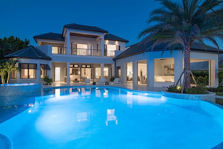 17 best images about custom pool homes on pinterest for Custom home plans florida