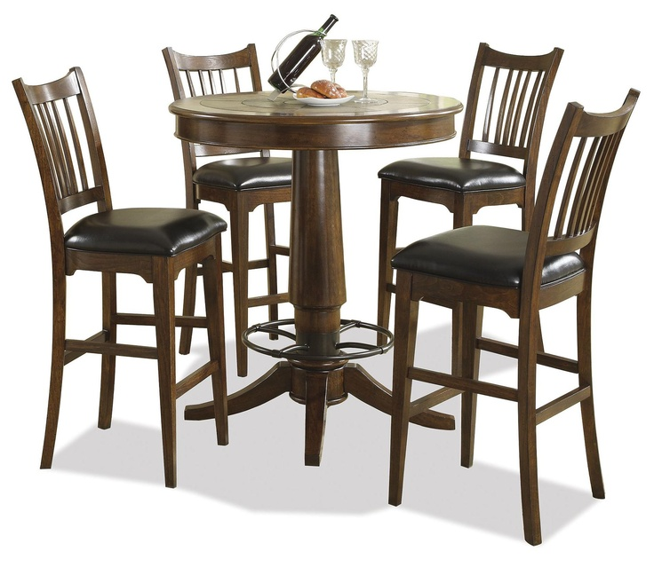 Bella Vista 5 Piece Round Pub Table And Stool Set By Riverside Furniture    AHFA