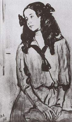 Портрет Н.З.Раппопорт, 1908 Валентин Серов