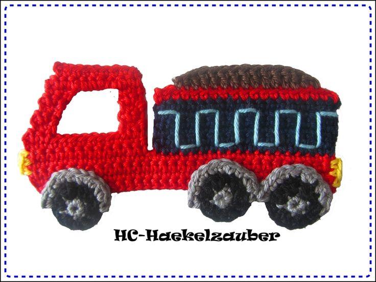 Häkelapplikationen - Lastwagen, LKW (Freie Farbwahl) - ein Designerstück von HC-Haekelzauber bei DaWanda