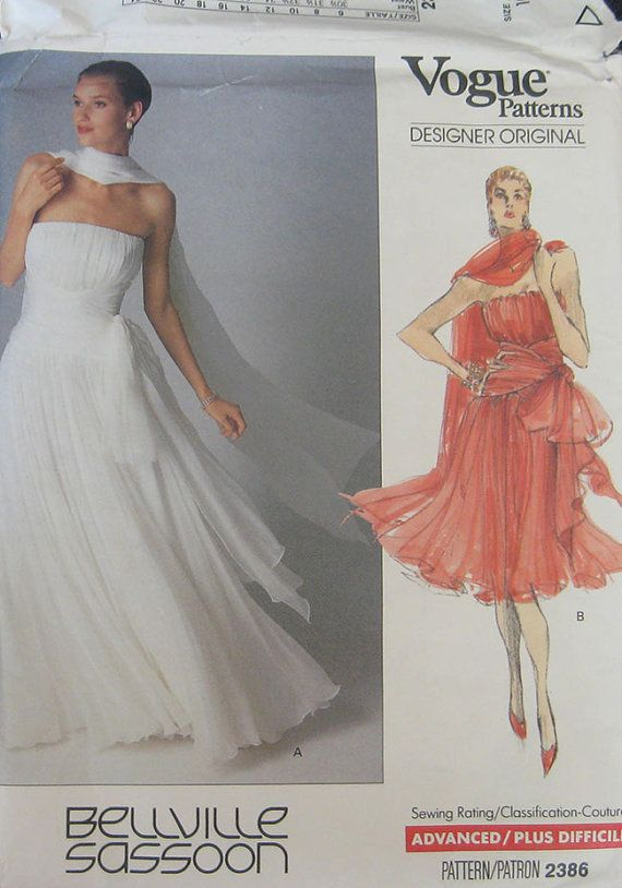 Vogue Bellville Sassoon Dress Pattern 2386 By TheHowlingHag 4995