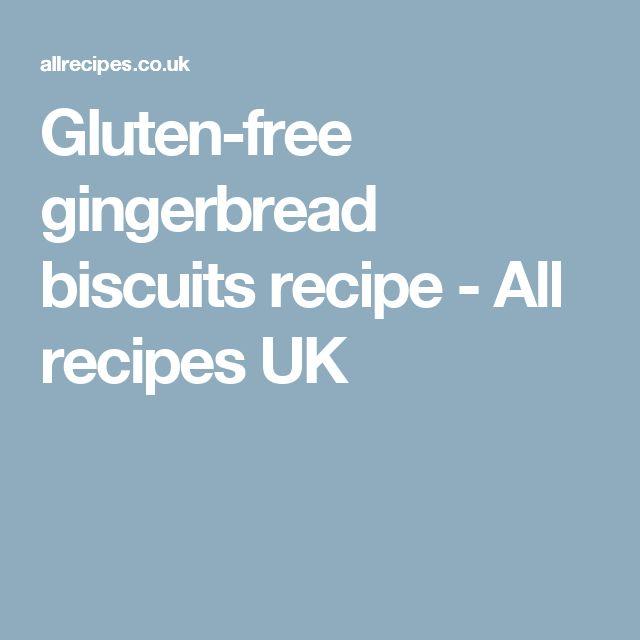Gluten-free gingerbread biscuits recipe - All recipes UK