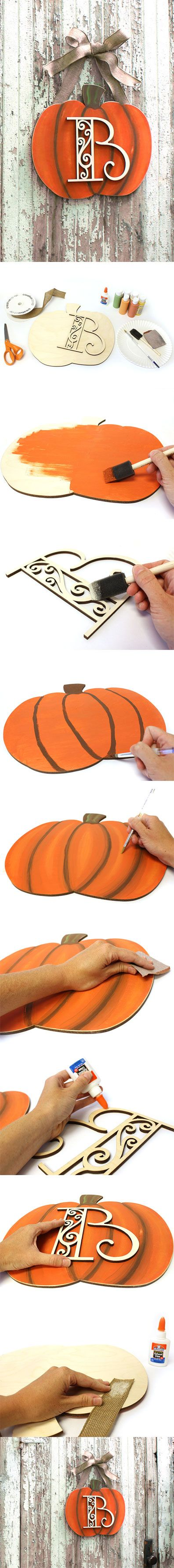 Pumpkin Monogram Wreath | Fall Pumpkin Wreath | CraftCuts.com