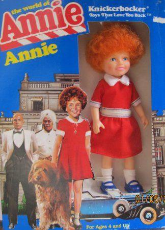 "Little Orphan ANNIE DOLL 6"" Tall - The World of Annie (1982 Knickerbocker)"