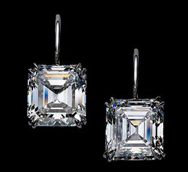 Harry Winston Asscher Cut Earrings