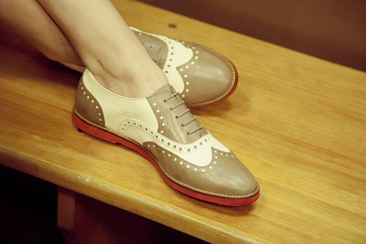 Editorial de moda inspirada en el estilo Teddy Boy: zapatos Oxford de Pretty Ballerinas