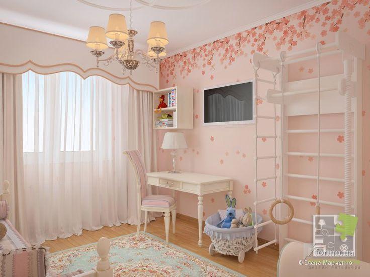 Детская для девочки , Елена Марченко, Детская комната, Дизайн интерьеров Formo.ua