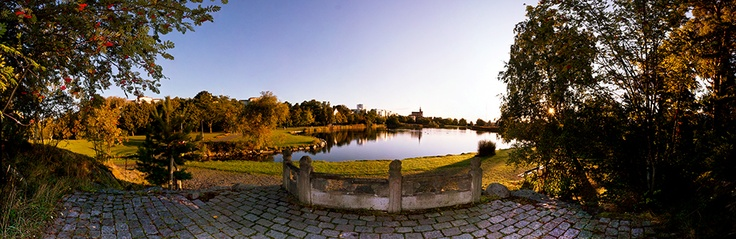 Panorama of Svandammsparken in autumn, Nynäshamn in Sweden. Part of the photo project Vida Vyer: Nynäshamn. Photos by Anna Andersson © 2012