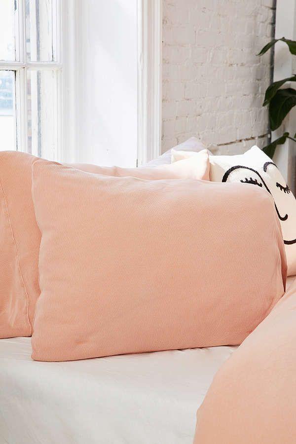 Faded Ribbed Jersey Pillowcase Set PillowcasesLatest StylesUrban