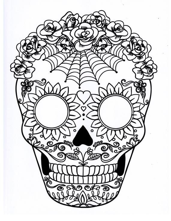 Printable Skull Coloring Pages Ideas Skull Coloring Pages Sugar Skull Art Drawing Sugar Skull Drawing