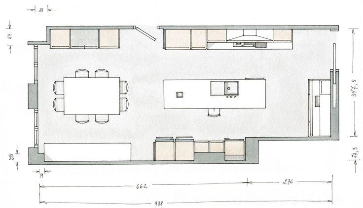 Planos cocina grande buscar con google ramp houses for Planos cocinas modernas