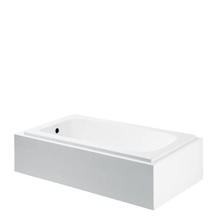 Minna 60 x 3 0 x 20 rectangular cast iron bathtub cast