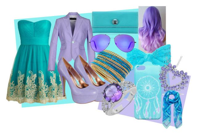 blue and purple by slytheriner on Polyvore featuring Dsquared2, Anne Michelle, George Gina & Lucy, Jules Smith, Malaika, Miadora, Ankit, Forever New and Victoria Beckham