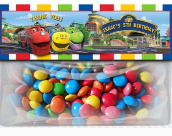 Chuggington Train Birthday Goodie Bag Toppers Party Favors