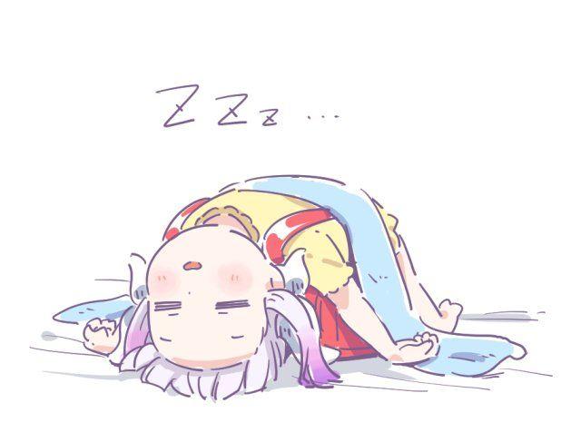 kobayashi-san chi no maid dragon, Kanna lying upside down pose