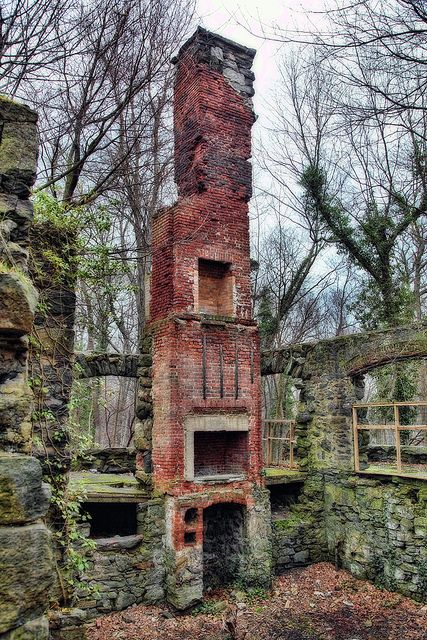 So..how did old chimney work? Why were there three hearth-looking holes? Did fires on three floors share the same chimney? That doesn't sound right. Anyone know?