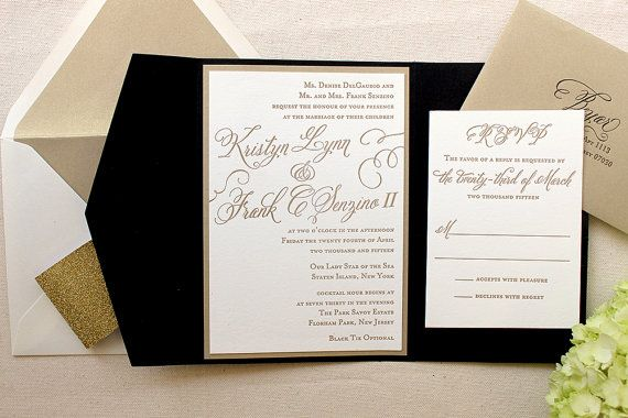 The Begonia Suite  Classic Letterpress Wedding by DinglewoodDesign - colors would be customized.
