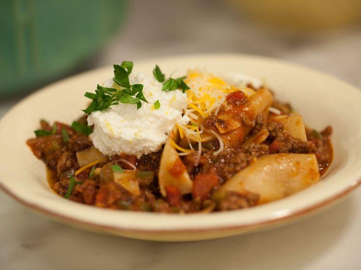 Sunny's Pan-sagna - One Pan Plan Lasagna recipe from Sunny Anderson via Food Network
