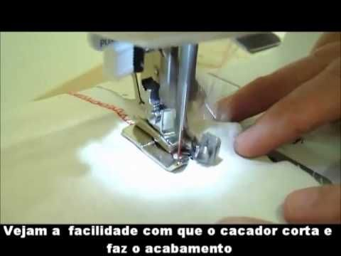 ▶ Demonstração Pé Calcador Overlock. - YouTube