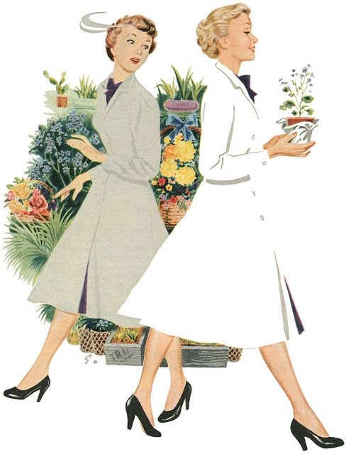 Illustration from a Persil washing powder advertisement. 1953.