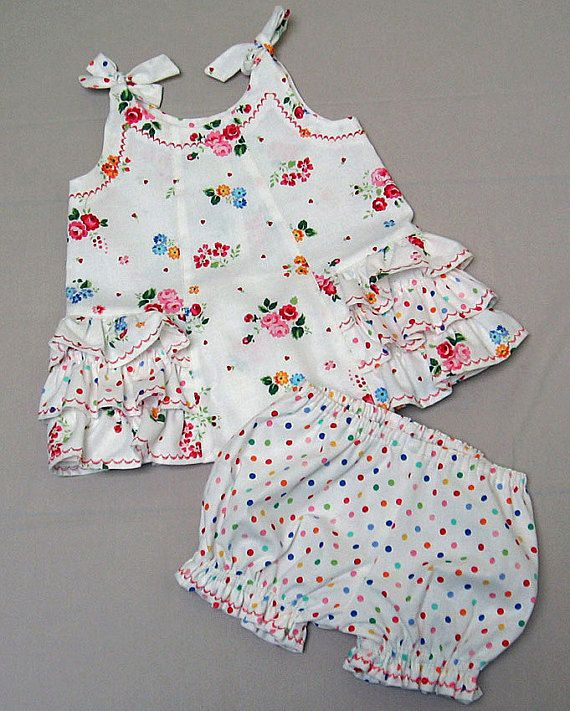 Sewing pattern baby dress and pants SUNNY DRESS & BLOOMERS