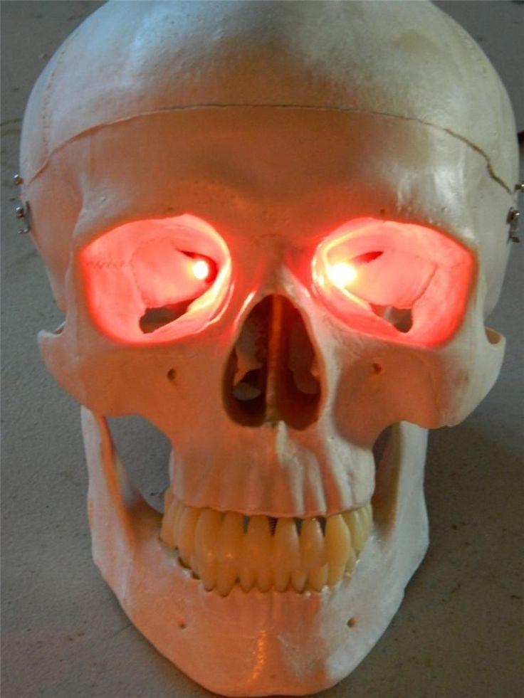 Light up skull eye sockets DIY style with LED lights! We ...