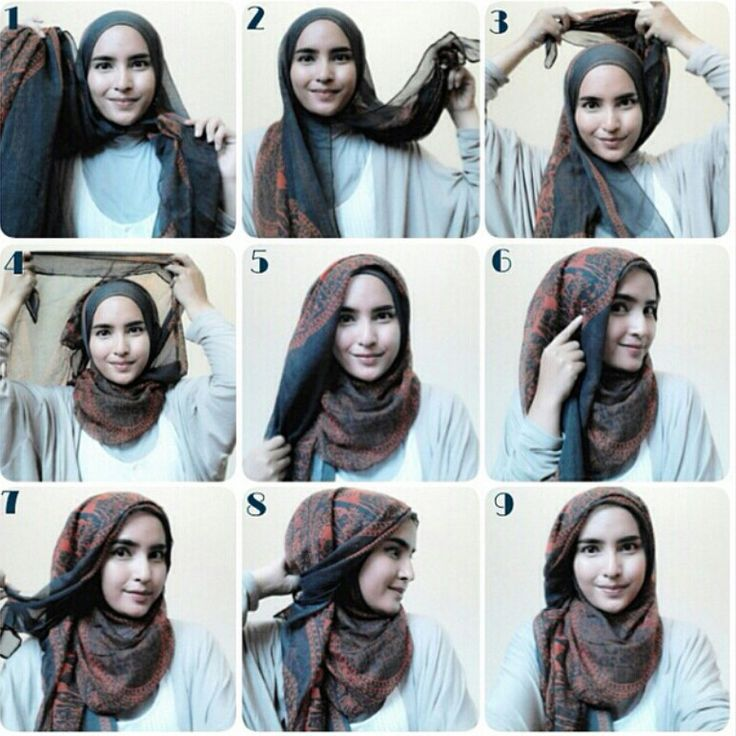 Side swept hijab | hijab tutorial