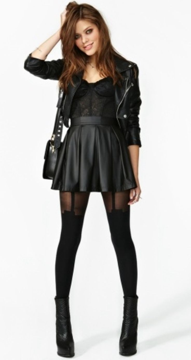 """""""How to get a rocker chic look for a bitch's funeral."""""""