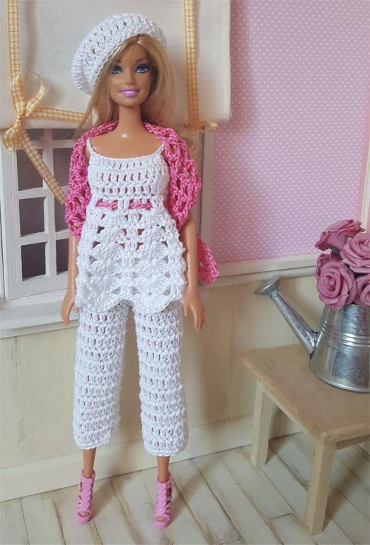 Ensemble Inaya au crochet pour poupée Barbie : Jeux, jouets par atelier-crochet