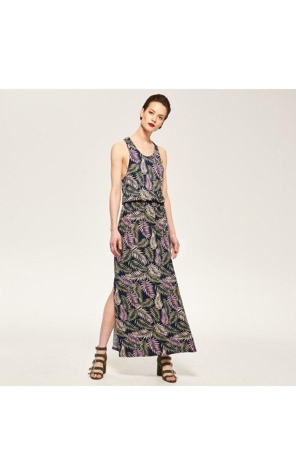 Długa sukienka, Sukienki, kombinezony, wielobarwn, RESERVED