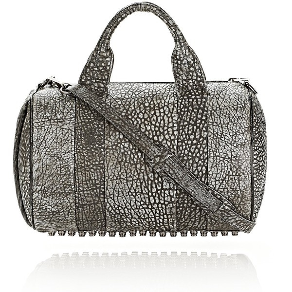 Alexander Wang Rocco In Pebbled Black/White Tip