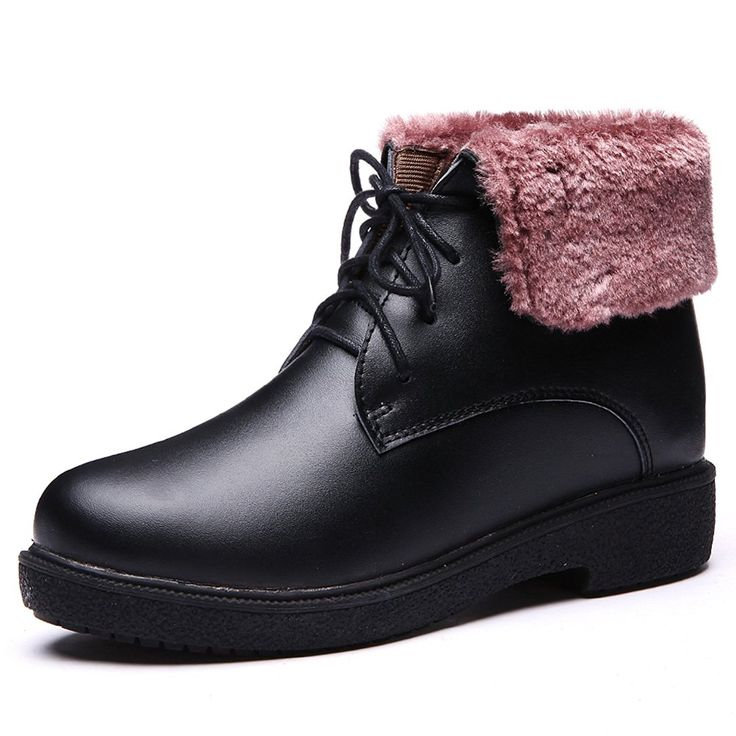 Winter ladies leather flat ankle boots/British leisure boots/Martin leather boots *** Continue to the product at the image link.